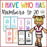 I Have Who has Numbers to 20 with Ten Frame