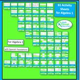 49 Activity Sheets for Algebra 1