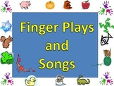 49 Fingerplays and songs