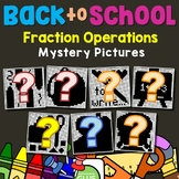 Mystery Picture Fraction Operation Review Activity Math Color Number 5th Grade