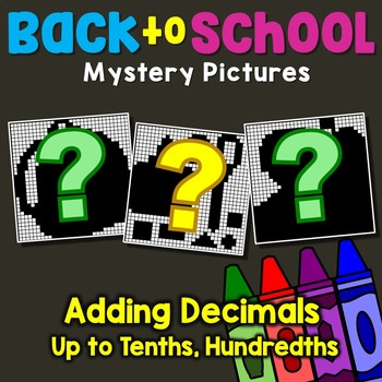 Back to School Adding Decimals Up to Tenths, Hundredths