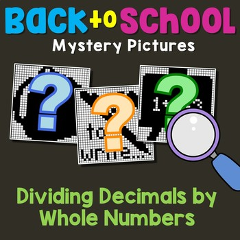 Back to School Dividing Decimals by Whole Numbers