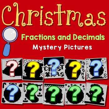 Christmas Fractions and Decimals Bundle