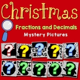 Christmas Fractions And Decimals Project, Math Mystery Coloring Pages