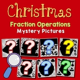 Mystery Picture Christmas Fraction Operation Project, Coloring Page For December