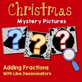 Middle School Math Christmas Adding Fraction Coloring Worksheet Like Denominator