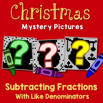 Christmas Subtracting Fractions With Like Denominators