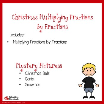Christmas Multiplying Fractions by Fractions