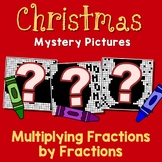 Challenge Activity Multiplying Fractions Christmas Coloring Page Mystery Picture