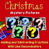 Christmas Adding And Subtracting Fractions With Like Denominators Worksheets