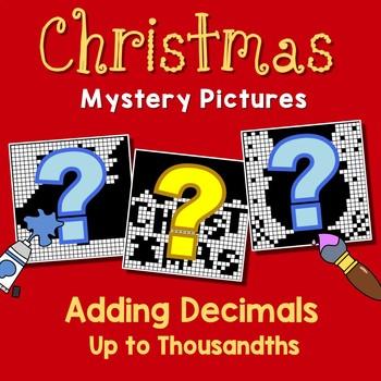 Christmas Adding Decimals Up to Thousandths