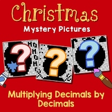 Christmas Multiplying Decimals Project, Color By Number Code Worksheets