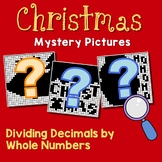 Christmas Dividing Decimals By Whole Numbers Activity Mystery Coloring Pages