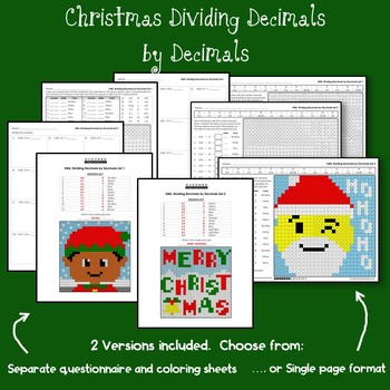 Christmas Dividing Decimals by Decimals