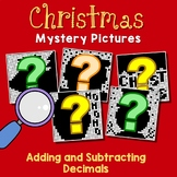 Adding And Subtracting Decimals Christmas Color By Number For December Activity