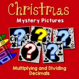 Christmas Multiplying And Dividing Decimals Project, Color By Number Code Sheets