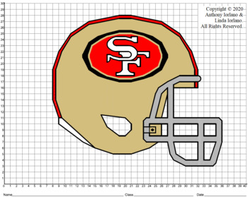 49ers' Helmet (1-Quad) Mystery Picture