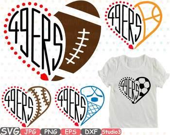 49ers San Francisco Silhouette SVG NFL nba mlb ncaaf football baschetball -761S