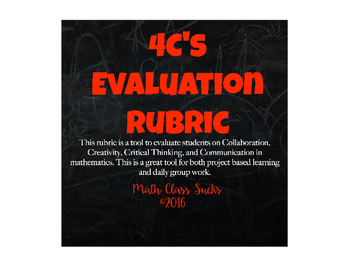 4C's Project Evaluation Rubric
