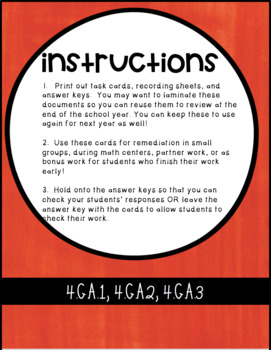 4G CCSS Standard Based Task Card Bundle - Includes all 4G Standards!