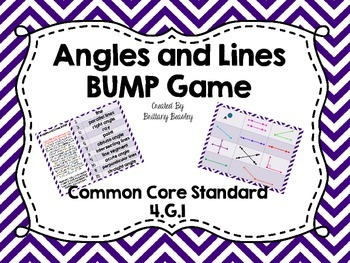 4.G.1 Angles and Lines BUMP Game