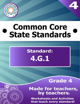 4.G.1 Fourth Grade Common Core Bundle - Worksheet, Activity, Poster, Assessment