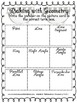 4.G.1 Fourth Grade Common Core Worksheets, Activity, and Poster