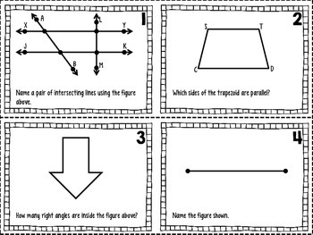4.G.1 Lines and Angles Task Cards