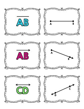 4.G.1 Matching Cards: Lines & Angles