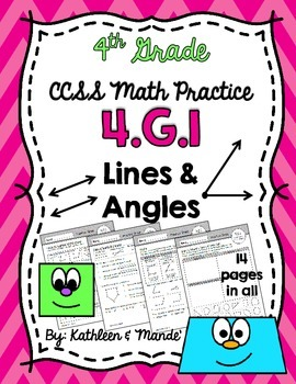 4.G.1 Practice Sheets: Lines & Angles