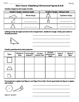 (4.G.2) 2-Dimensional Figures: 4th Grade Common Core Math Worksheets