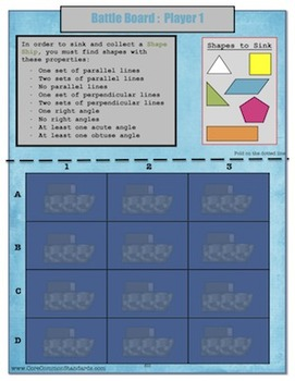4.G.2 Fourth Grade Common Core Worksheets, Activity, and Poster