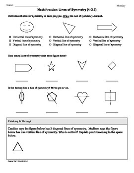 (4.G.3) Symmetry: 4th Grade Common Core Math Worksheets
