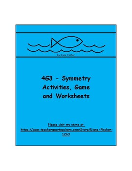 4G3 - Symmetry - Activities, Game and Worksheets