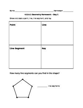 4.G.A.1 Math Homework
