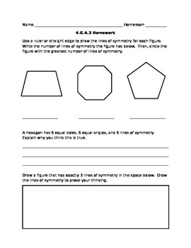 4.G.A.3 Math Homework