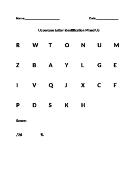 4K and Kindergarten Number and Alphabet Assessments