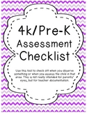 4K.PreK Assessment checklist