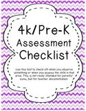 4K.PreK Assessment checklist