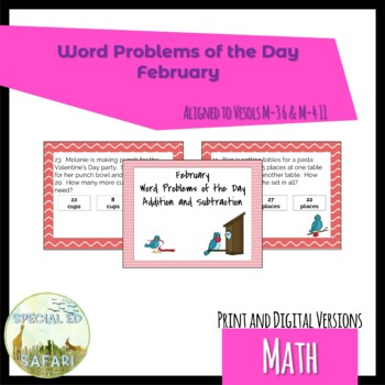4M-NSCE 4a February Word Problems of the Day for VAAP and SPED