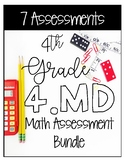 4MD CCSS Standard Based Math Assessments - Covers All 4MD Standards!