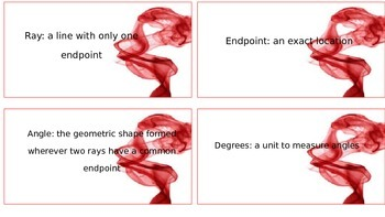 4.MD and 4.G Math Vocabulary Cards