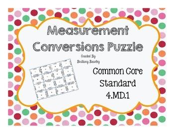 4.MD.1 Measurement Conversions Puzzle