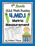 4.MD.1: Metric Measurement Practice Sheets