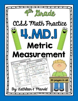 4 md 1 metric measurement practice sheets by kathleen and mande 39. Black Bedroom Furniture Sets. Home Design Ideas