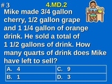 4.MD.2 4th Grade Math - Distance, Time, Volume, Mass, and Money Word Problems