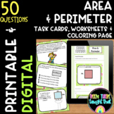 Area and Perimeter Word Problems and Task Cards