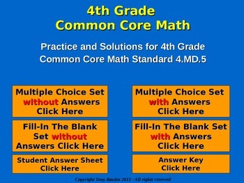 4.MD.5 4th Grade Common Core Math - Recognize angles as geometric shapes