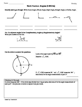 4th grade common core math worksheets pdf