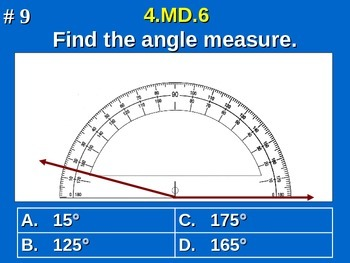 4.MD.6 4th Grade Common Core Math - Measure Angles Using A Protractor
